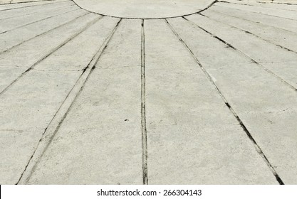 Sidewalk - cement flooring with converging lines - prospects