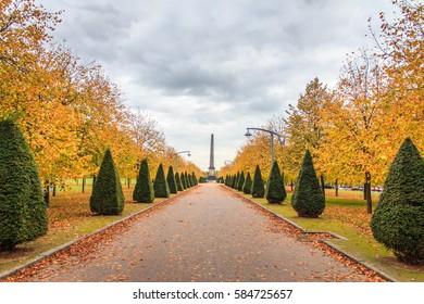 sidewalk in glasgow green, glasgow, scotland, UK