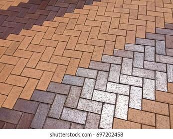 Sidewalk orange block floor pattern texture background