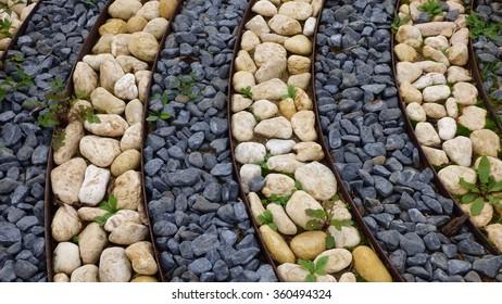 sidewalk rocks