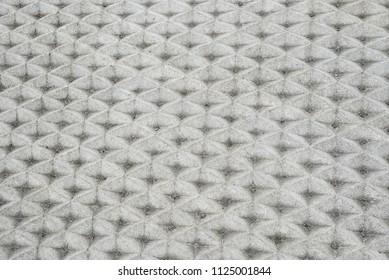 Sidewalk street square triangular pattern texture gray concrete perspective