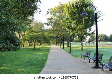 Sidewalks; walkways, park