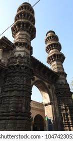 Sidi Bashir Mosque / Shaking Minarets at Ahmedabad, Gujarat State, India.