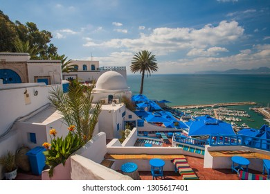 Sidi Bou Said is considered a city of poets and artists. Sidi Bou Said is the scenic village, located on the hilltop and popular among tourists, visiting Tunisia, North Africa .