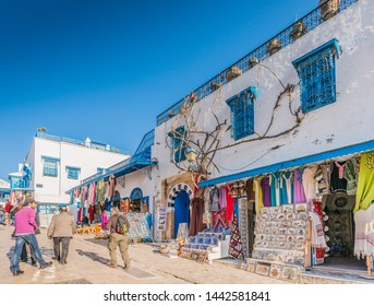 SIDI BOU SAID, TN - MARCH 15, 2017: Sidi Bou Said is a town in northern Tunisia located about 20km from the capital, Tunis.