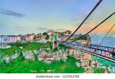 Sidi M'Cid Bridge across the Rhummel River Canyon in Constantine - Algeria, North Africa