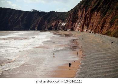 Sidmouth beach in Devon