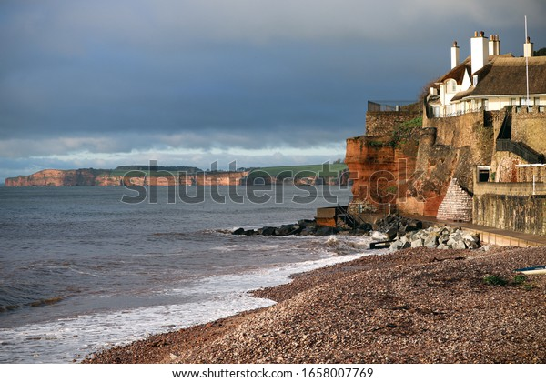 Sidmouth coast and cliffs in Devon