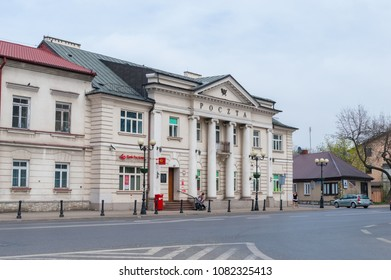Siedlce, Poland - April 16, 2018: Post ofiice building in Siedlce city.