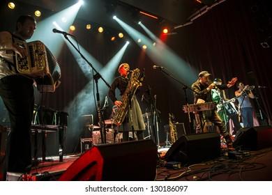 SIEDLCE, POLAND - FEBRUARY 28: Band Czeslaw Spiewa perform on stage at Podlasie on February 28.2013 in Siedlce, Poland