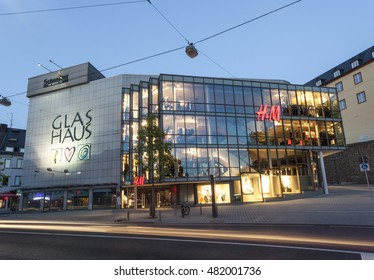 SIEGEN, GERMANY - SEP 1, 2016: The Glas Haus building in the city of Siegen. North Rhine Westphalia, Germany