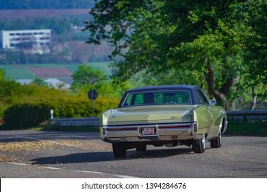 Sielmingen, Germany - May 1, 2019: Buick Electra 225 american oldtimer car at the 15. Sielminger Oldtimerfest event.
