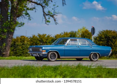 Sielmingen, Germany - May 1, 2019: Opel Admiral german oldtimer car at the 15. Sielminger Oldtimerfest event.