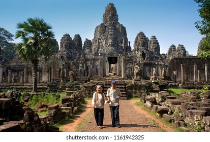 Siem Reap. Cambodia. 05.13.06. Bayon Temple in Angkor Wat in Cambodia. Angkor is a UNESCO World Heritage Site.