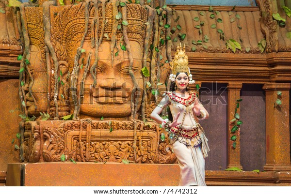 Siem reap, Cambodia - Apr 14, 2016 - Apsara Dance is the ancient classical dance form of Cambodia