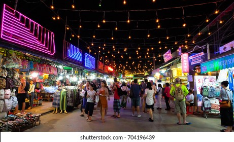 Siem Reap, Cambodia - Circa August, 2017: Many tourists come to visit. Buy local souvenirs and souvenirs at the Siem Reap Night Market.