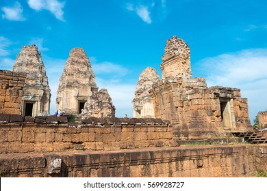 Siem Reap, Cambodia - Dec 11 2016: East Mebon in Angkor. a famous Historical site(UNESCO World Heritage) in Angkor, Siem Reap, Cambodia.