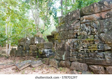 Siem Reap, Cambodia - Dec 13 2016: Krol Ko in Angkor. a famous Historical site(UNESCO World Heritage) in Angkor, Siem Reap, Cambodia.