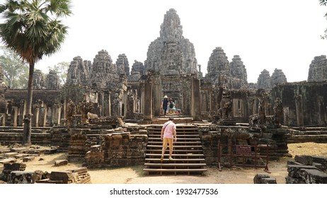 Siem Reap - Cambodia - February 2017: Ta Prohm Temple at the Ankor Wat temple complex near Siem Reap in Cambodia.