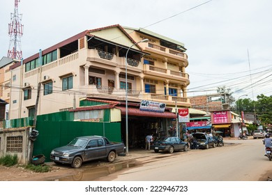 SIEM REAP, CAMBODIA - SEP 28, 2014: Life in the centre of Siemreap, Cambodia. Siem Reap is the capital city of Siem Reap Province and a popular resort town as the gateway to Angkor region