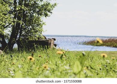 Siemianowka lake during summer vacation