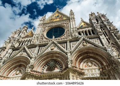Siena cathedral in Tuscany on sunny day