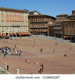 SIENA, ITALY - JULY 05, 2008: Piazza del Campo is the main square of Siena