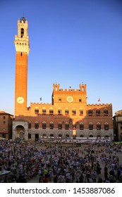 Siena, Italy July 19th 2019: The Palio Horserace