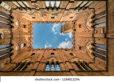 Siena, Italy - May 16 2018: Torre del Mangia