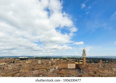 SIENA, ITALY - OCTOBER 2013; View of Siena from the Cathedral.
