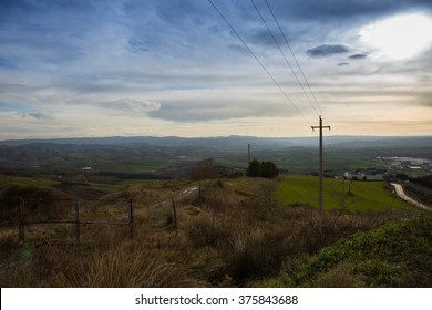 Siena.Toscana.Italia hills in the province.