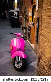 Siena,tuscany/Italy 23 february 2019 :motorbike in streets of siena