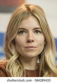 Sienna Miller attends the 'The Lost City of Z' press conference during the 67th Berlinale International Film Festival Berlin on February 14, 2017 in Berlin, Germany.