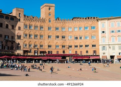 SIENNA, TUSCANY - SEPTEMBER 29, 2016 -  The wonderful medieval city of Siena in Tuscany region, italy