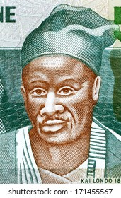 SIERRA LEONE - CIRCA 2003: Kai Londo (1845-1896) on 500 Leones 2003 Banknote from Sierra Leone. Kissi warrior from Sierra Leone who conquered a large territory.
