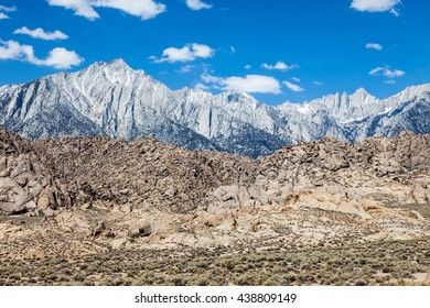 Sierra Nevada mountains with Mt Whitney
