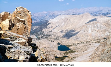 Sierra Nevada Mountains: View of Guitar Lake from Mt. Whitney on the JMT