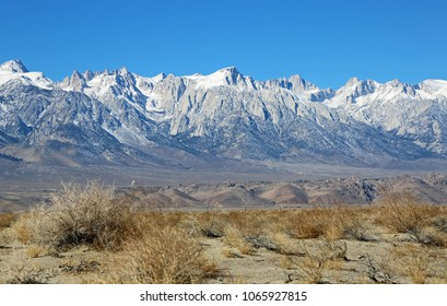 Sierra Nevada from Owens Valley , California