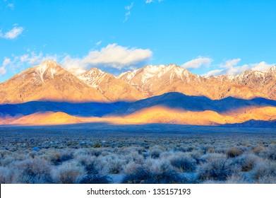 Sierra Nevada at sunrise.