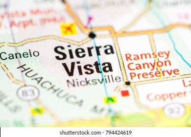 Sierra Vista. Arizona. USA on a map