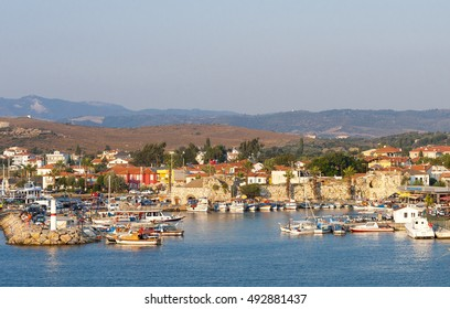 Sigacik, Turkey - July 11, 2012 : Sigacik Port view from castle. Sigacik is small historical village in Izmir.