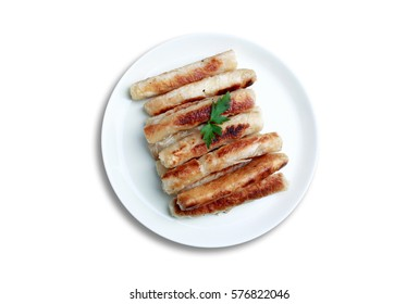 Sigara boregi 'cigarette borek' or kalem boregi 'pen borek', a smaller, cylindrical variety is often filled with feta cheese, potato, parsley and sometimes with minced meat or sausage.