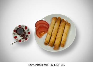 Sigara Boregi, Special Turkish Food. Cigar Pastries