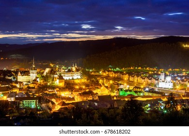 Sighisoara city, the most beautiful town in Transylvania, Mures county, Romania