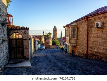 Sighnaghi, Georgia, 06-Oct-2017: Old fortifications in Sighnaghi the capital of the wine region Kakheti in Georgia caucasus