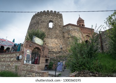 Sighnaghi, Kakheti, Georgia - Circa August 2018: View Tower in medieval Georgian town Sighnaghi, the wine region in Georgia.