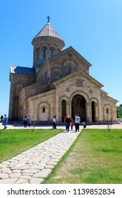 Sighnaghi, Kakheti, Georgia - May 2, 2018: Monastery of St. Nino at Bodbe is a Georgian Orthodox monastic complex and the seat of the Bishops of Bodbe
