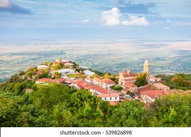 Sighnaghi panoramic view, Kakheti region of Georgia