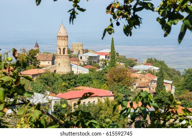 """Sighnaghi (Signagi)-  georgian town in Georgia's easternmost region of Kakheti. Important center of Georgia's tourist industry. Sighnaghi is known as a """"Love City"""" in Georgia."""