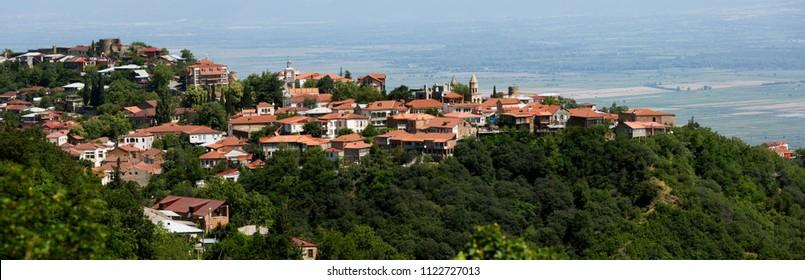 Sighnagi town a panoramic view, Georgia
